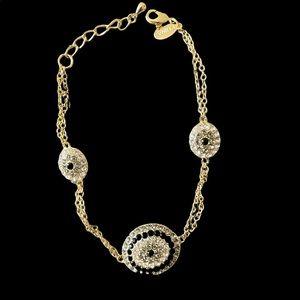 Joan Boyce Crystal & Enamel reversible Bracelet